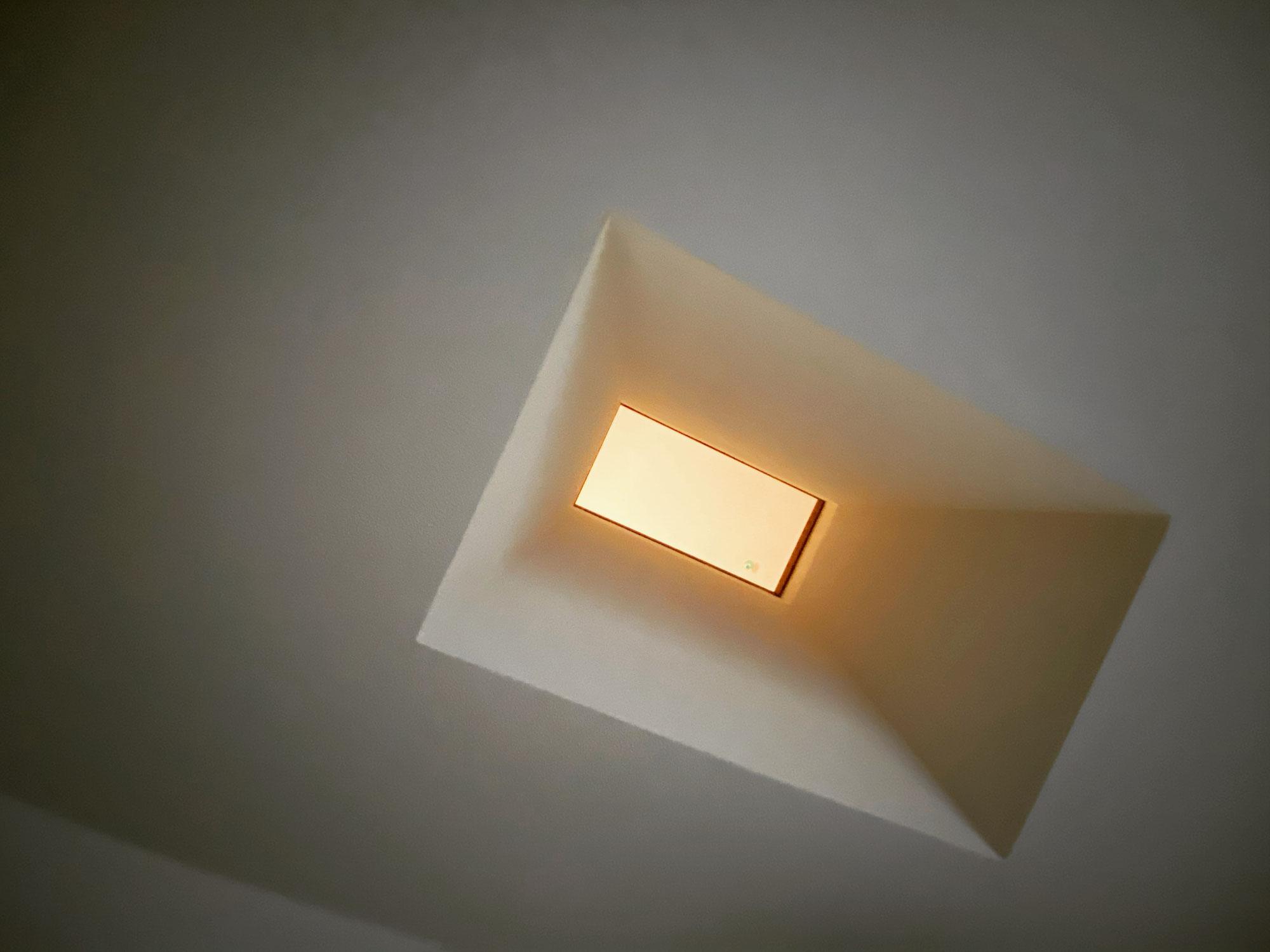 2階の明かりをサニタリーへ