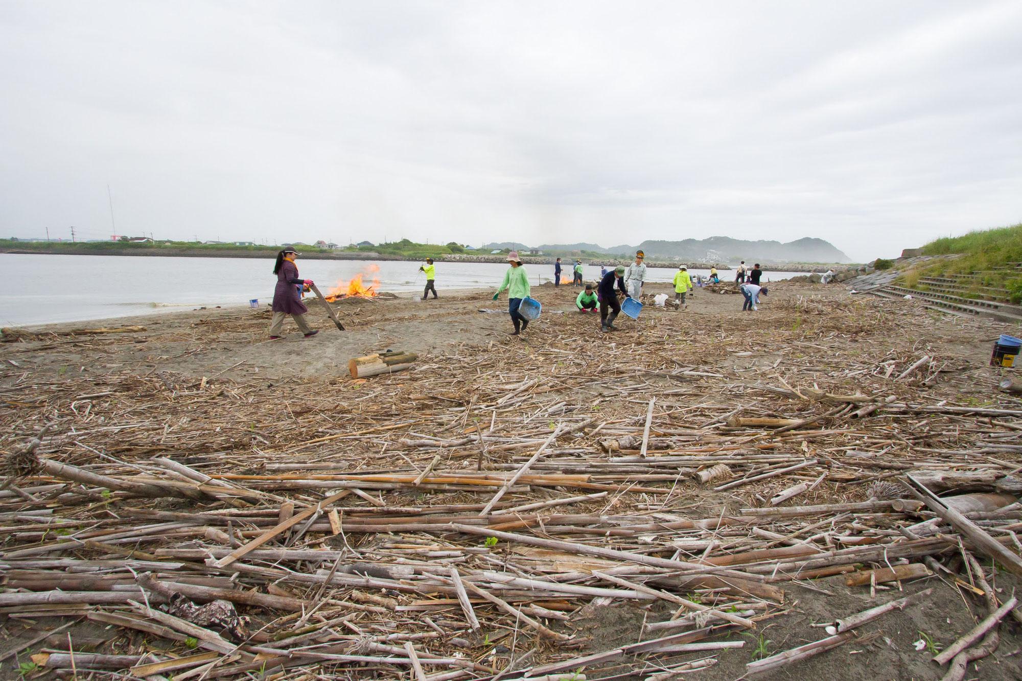 第2回 海岸竹炭イベントの報告