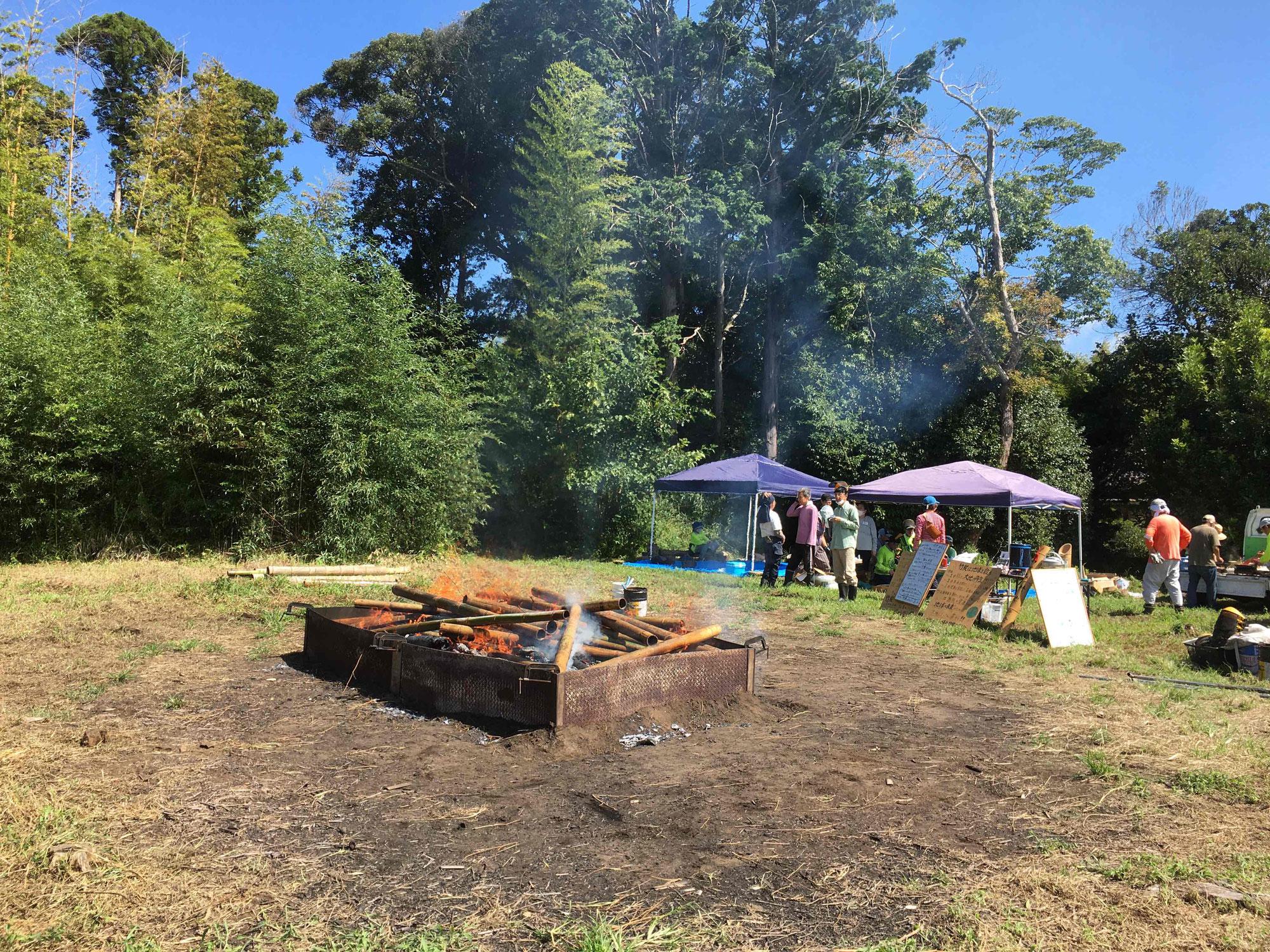 9月の竹炭イベント報告