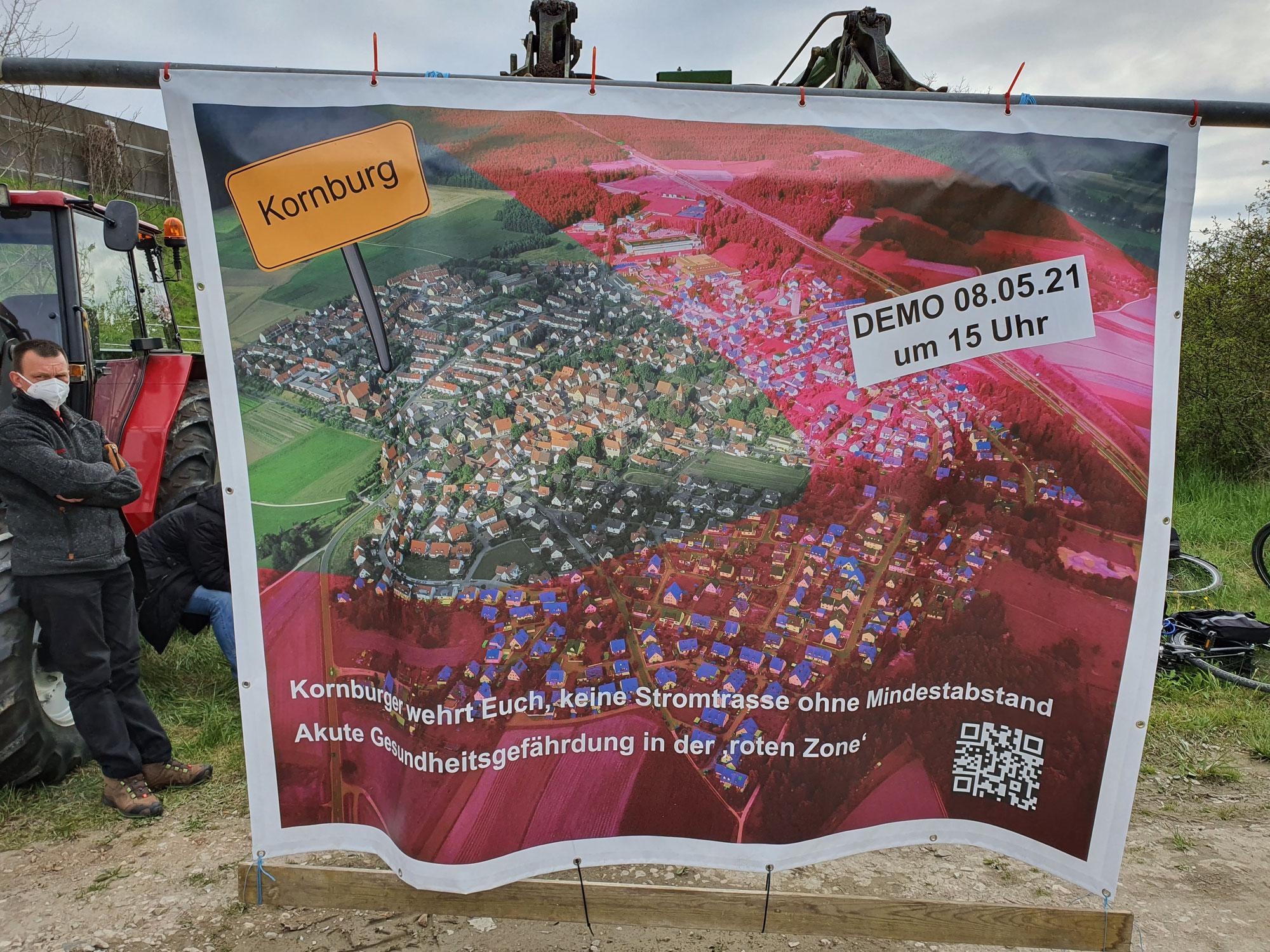 Bürgerverein Kornburg veranstaltet Demo zur Juraleitung