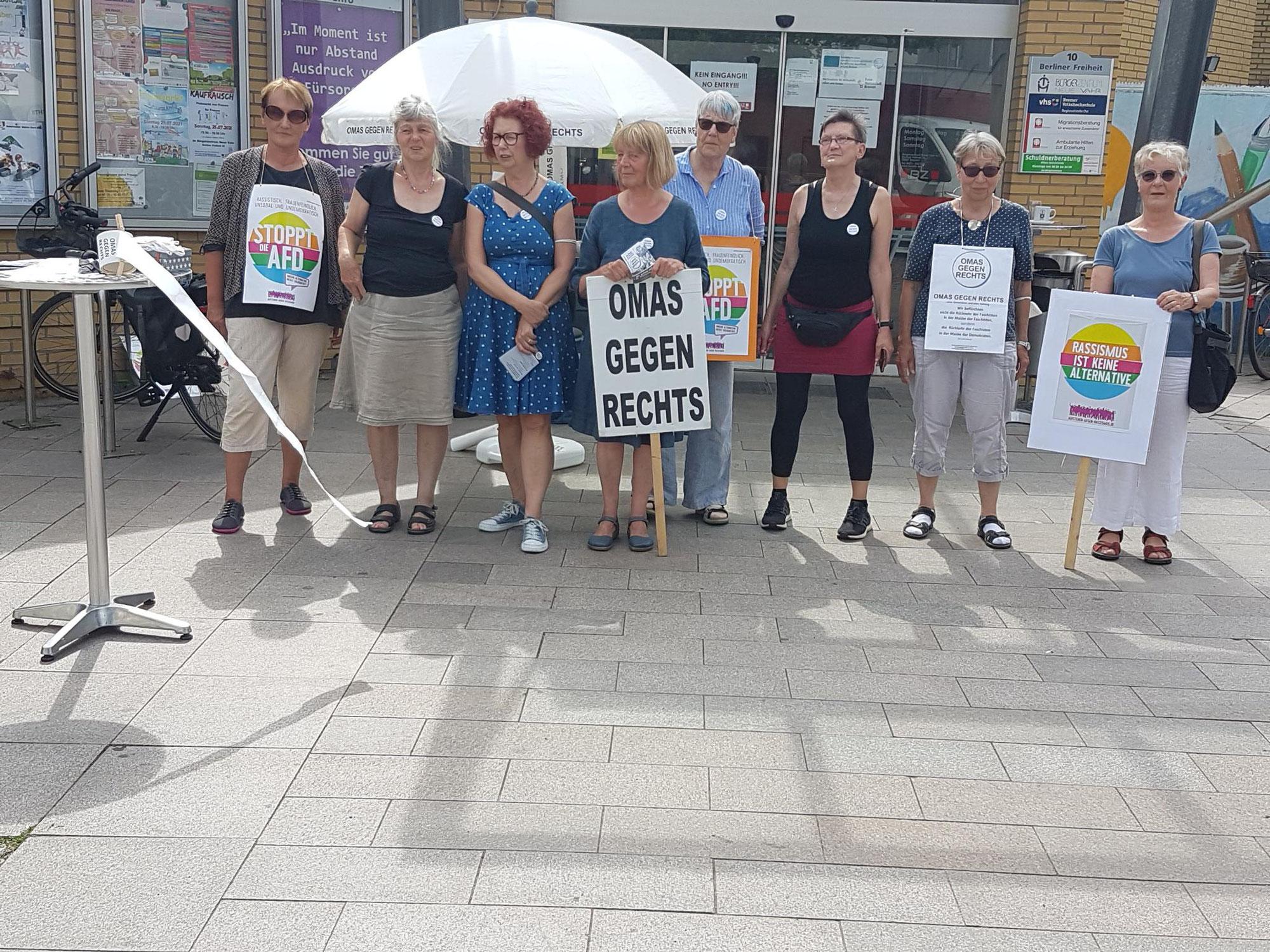 Bremen: 2. Wahlaktion der Bremer OMAS