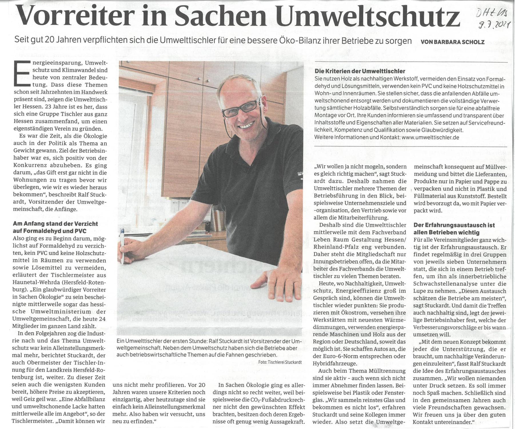 Die Deutsche Handwerkszeitung berichtet über uns
