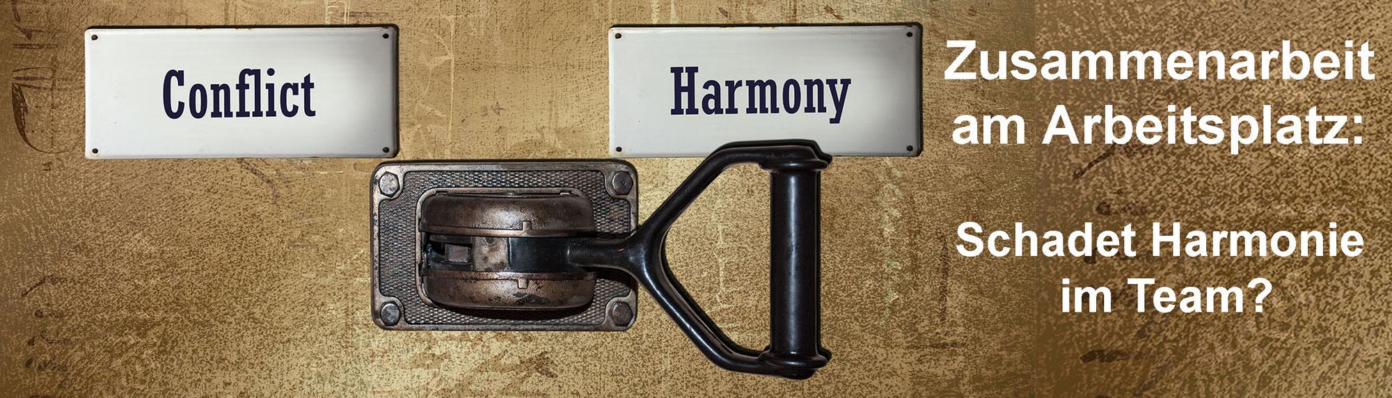Zusammenarbeit am Arbeitsplatz: Schadet Harmonie im Team?