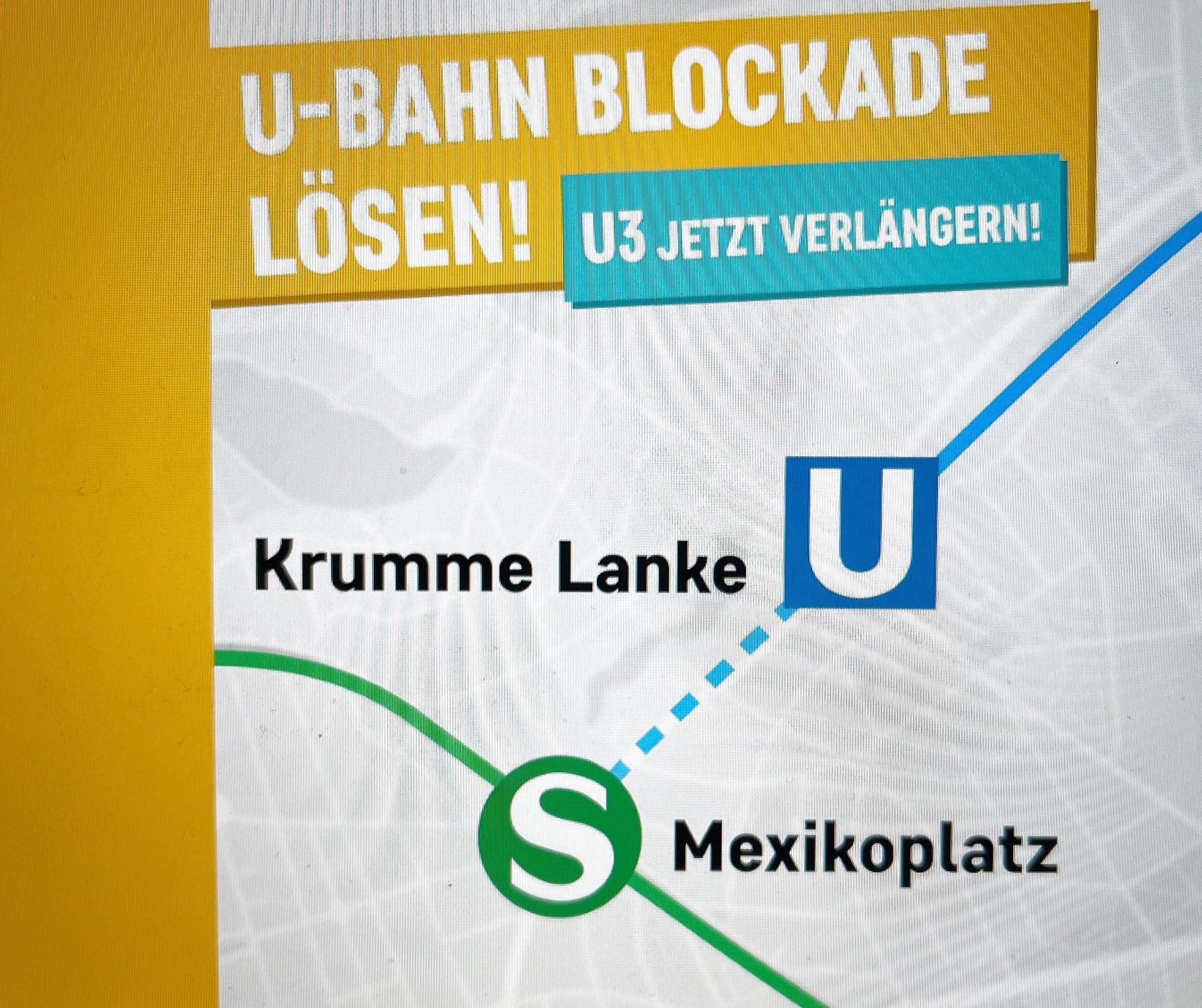 Verlängerung der U3 bis Mexikoplatz