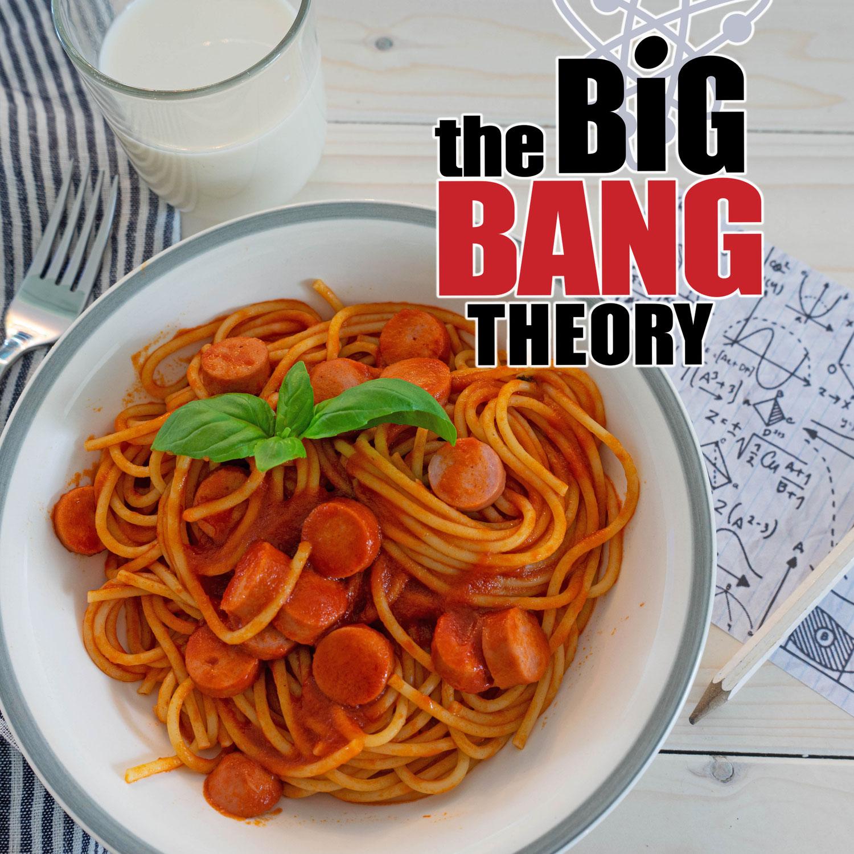 Spaghetti mit Würstchen aus the Big Bang Theory