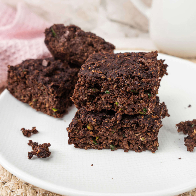 Zuckerfreie Zucchini Brownies