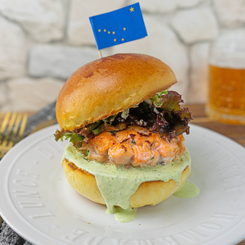 Alaska Lachs Burger
