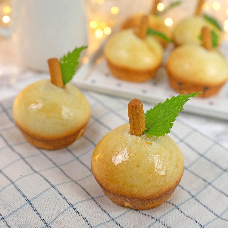 Mini Brioches mit Apfel Schoko Füllung