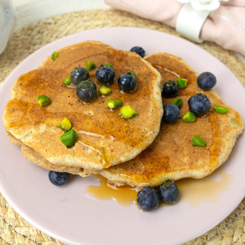Zuckerfreie Vollkorn Apfel Pancakes