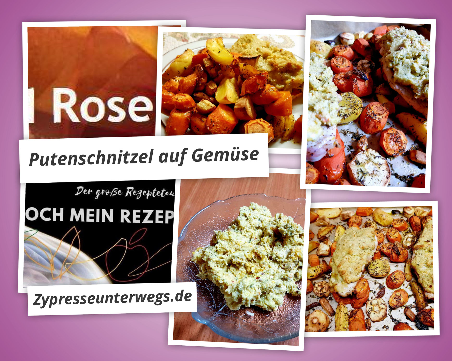 {Koch mein Rezept} Putenschnitzel auf Gemüse nach Petras Rezept