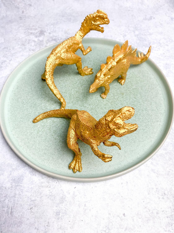 Goldene Dino - Caketopper DIY
