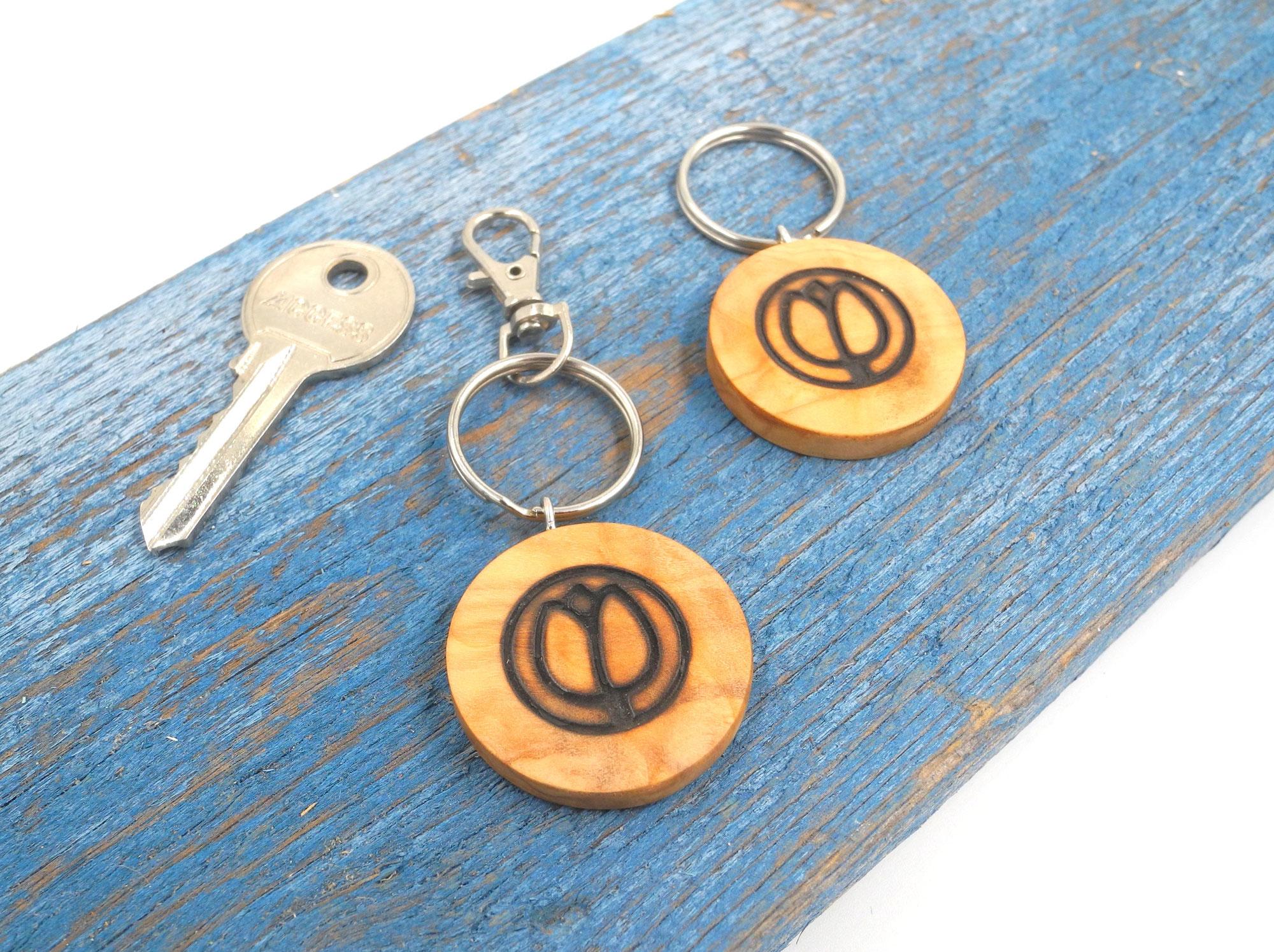 Edle handgefertigte Schlüsselanhänger Hotel