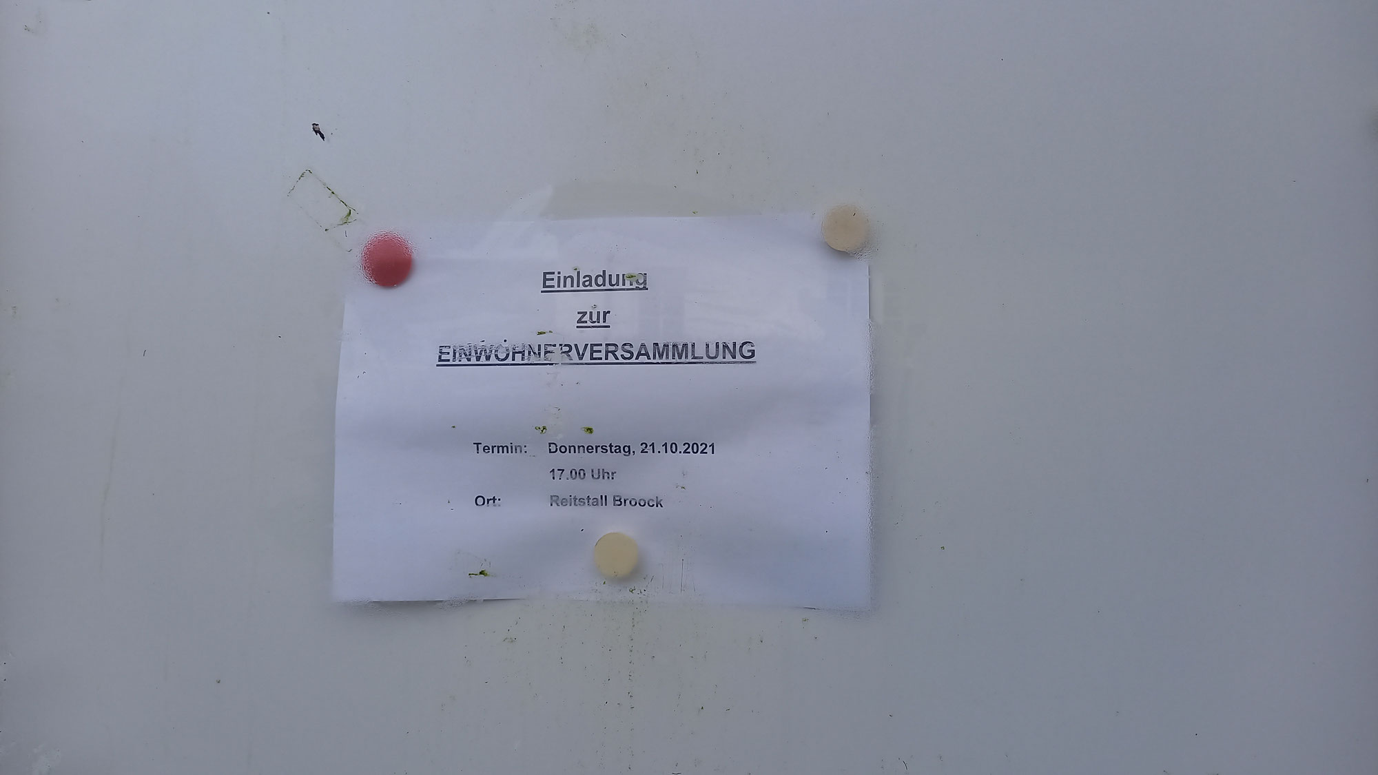 EINWOHNER/INNEN-VERSAMMLUNG