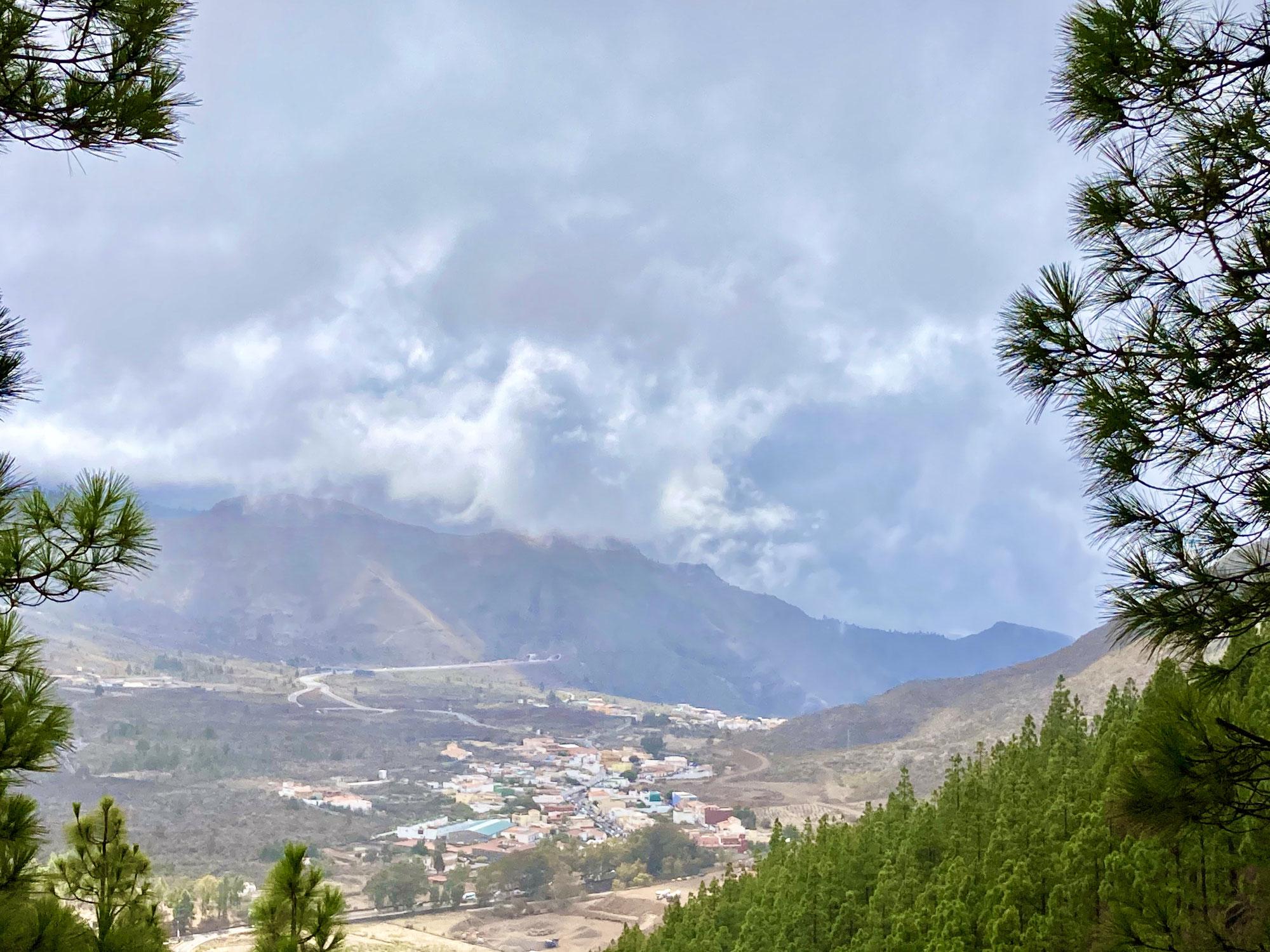 Blick auf Masca und Umgebung, Blick zum Teide Runde Los Silos