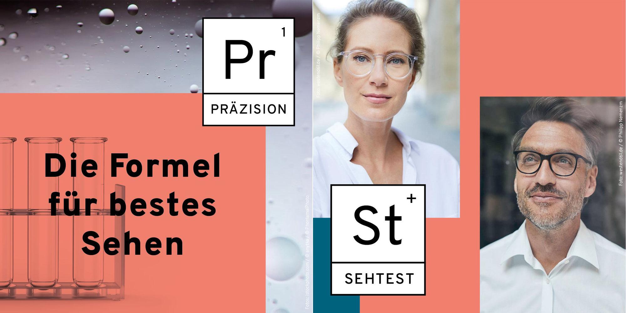 Damit die Chemie zwischen Ihren Augen und Ihrer Brille stimmt!