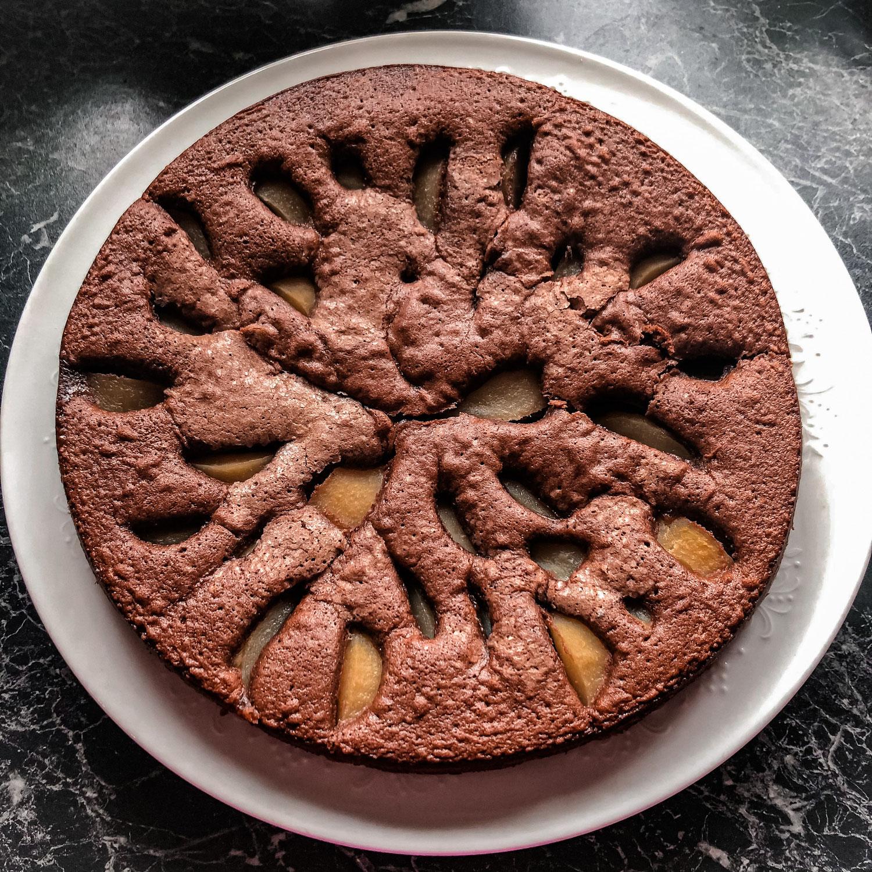 Schoko-Birnen-Kuchen