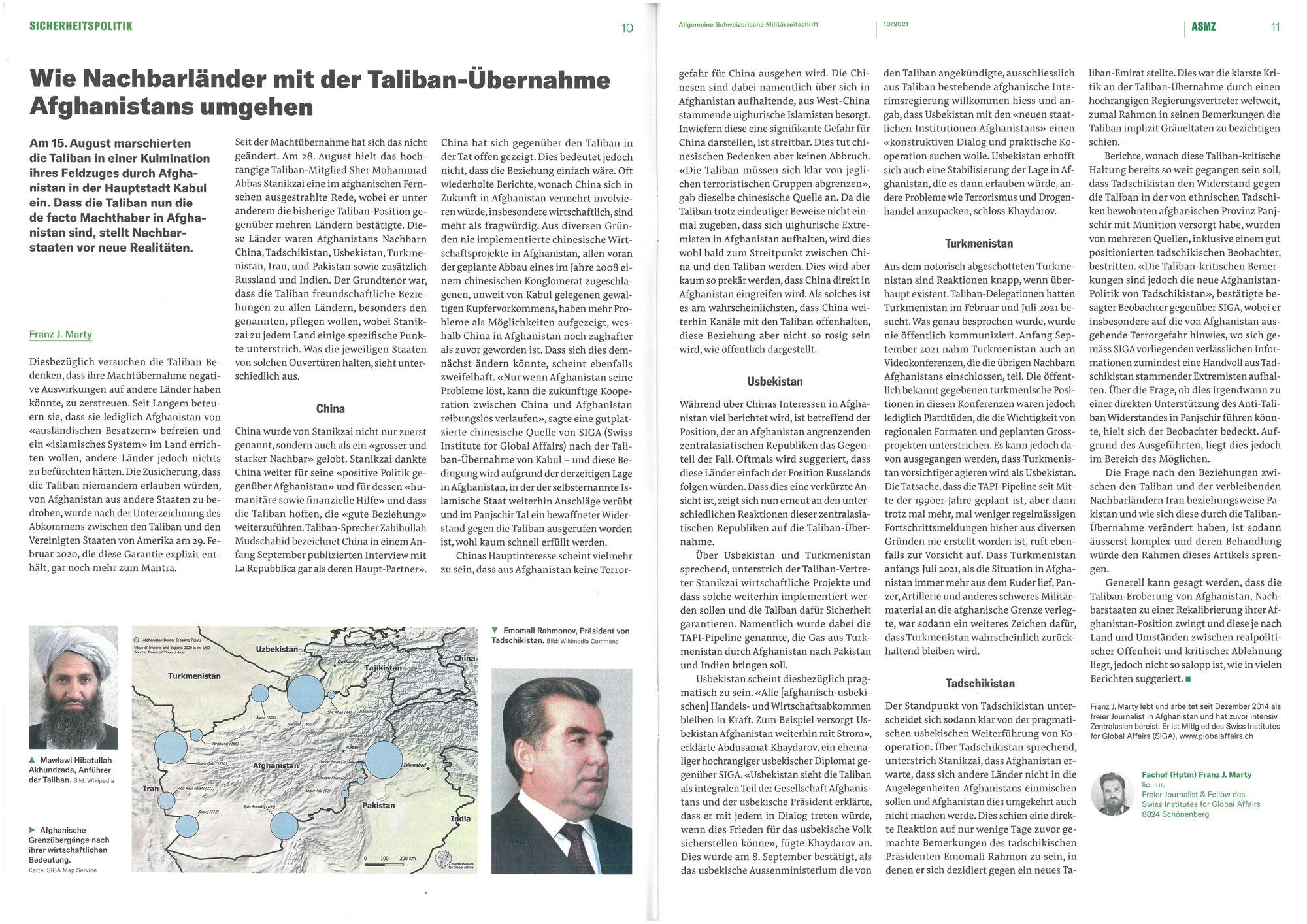 Wie Nachbarländer mit der Taliban-Übernahme Afghanistans umgehen