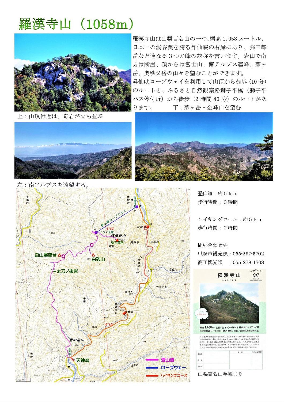 山梨百名山:羅漢寺山