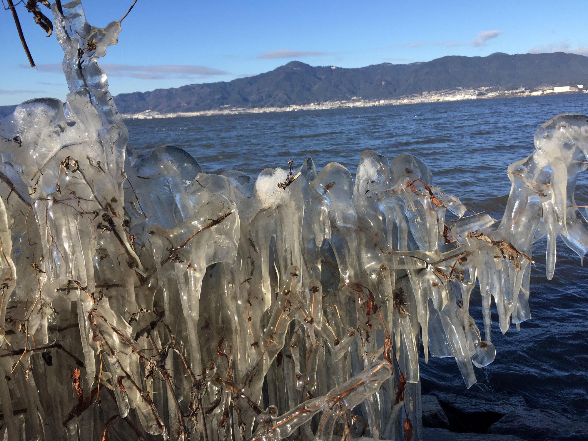 琵琶湖・しぶき氷