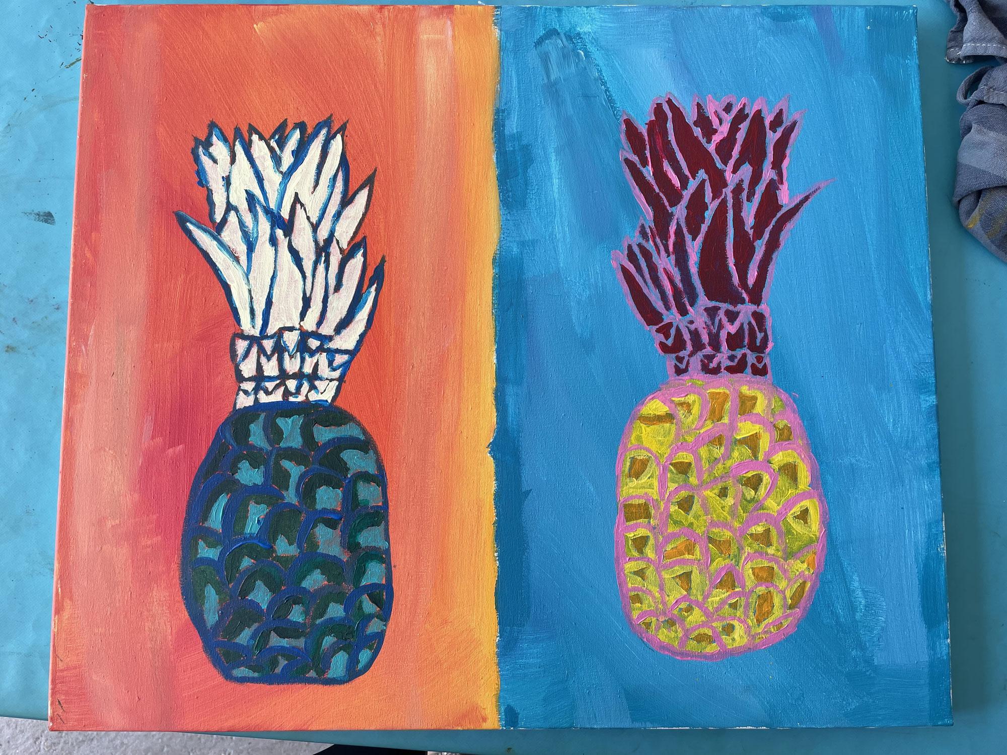 De l'ananas multicolore !