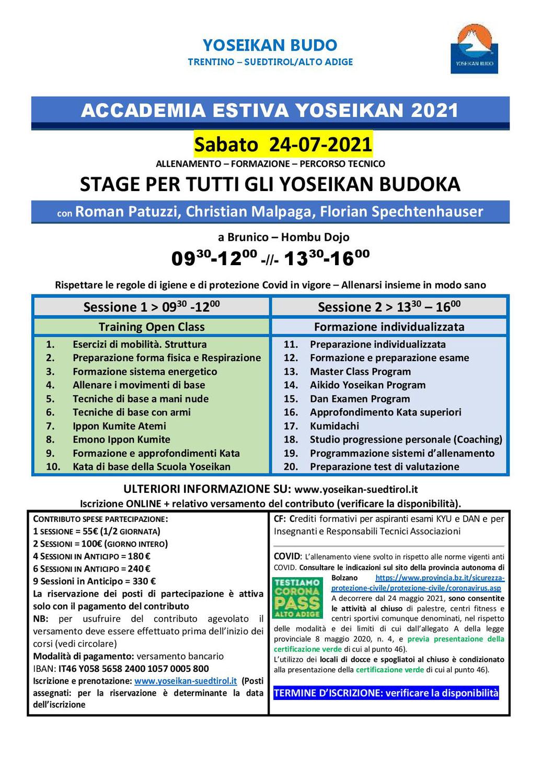 24-07-2021 - Sommerakademie / Accademia Estiva