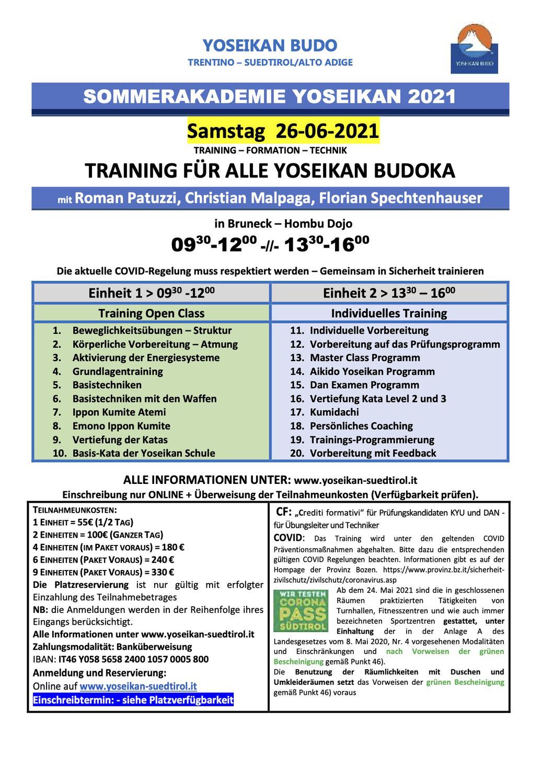 26-06-2021 - Sommerakademie / Accademia estiva