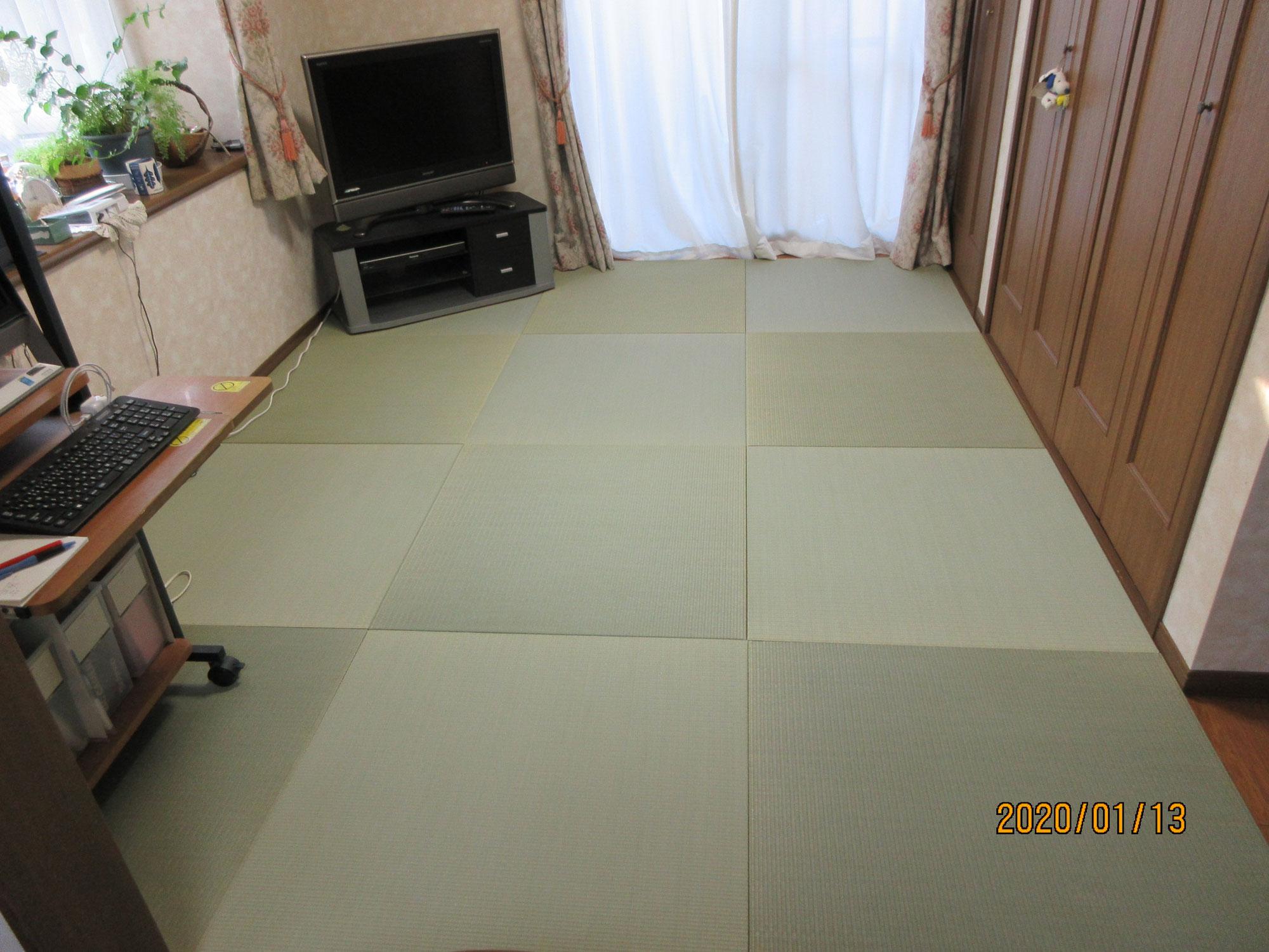 昭島市S様 フローリングに薄い畳を敷き詰めました!