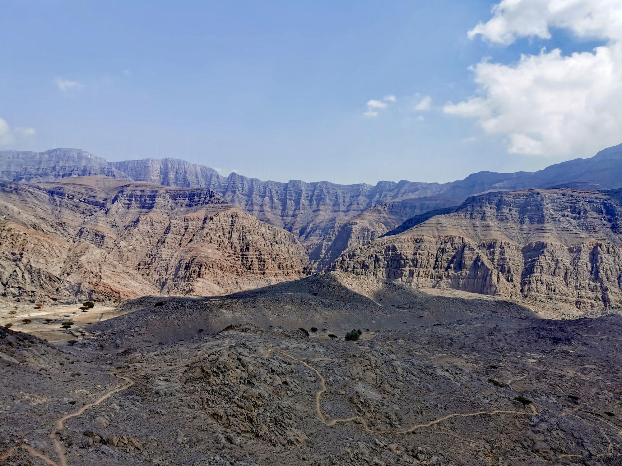 Jebel Jais - Wandern im Hajar-Gebirge
