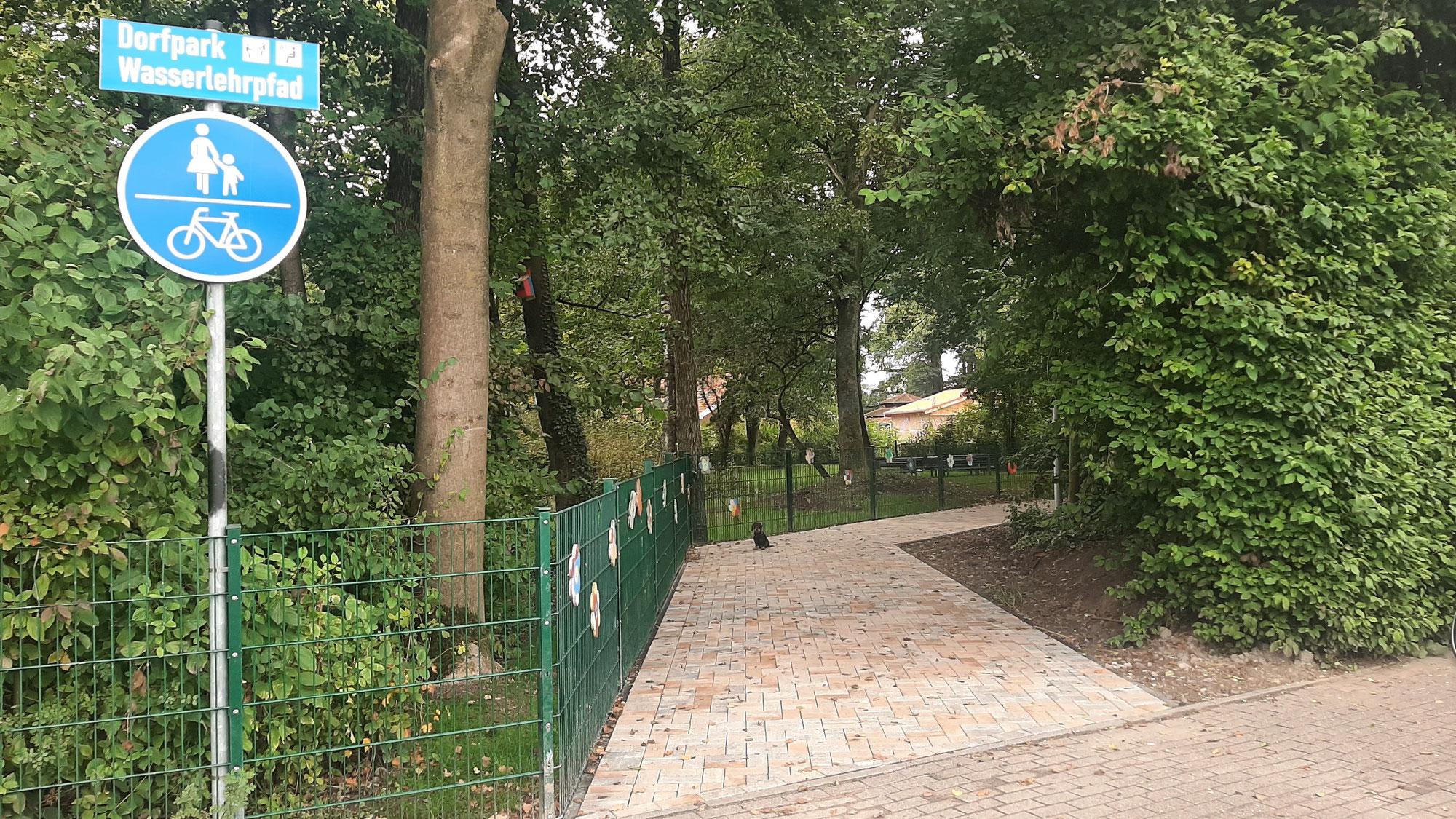 Pflasterung der Zuwegung vom Kreisverkehr im Generationenpark Osterwick