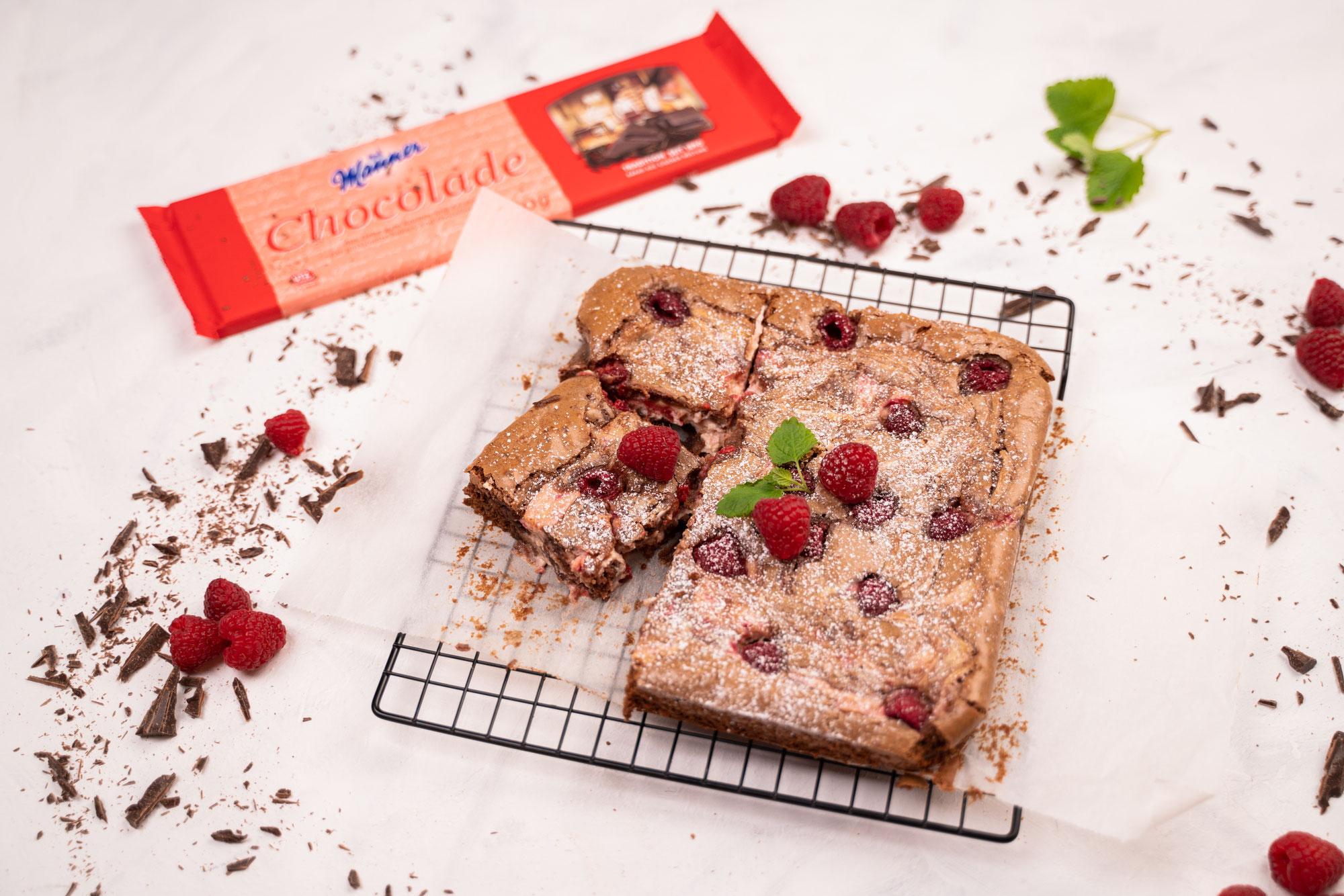 Himbeer Brownies mit Kochschokolade
