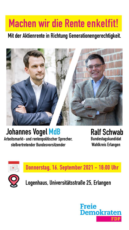 Wahlkampfveranstaltung mit Johannes Vogel MdB