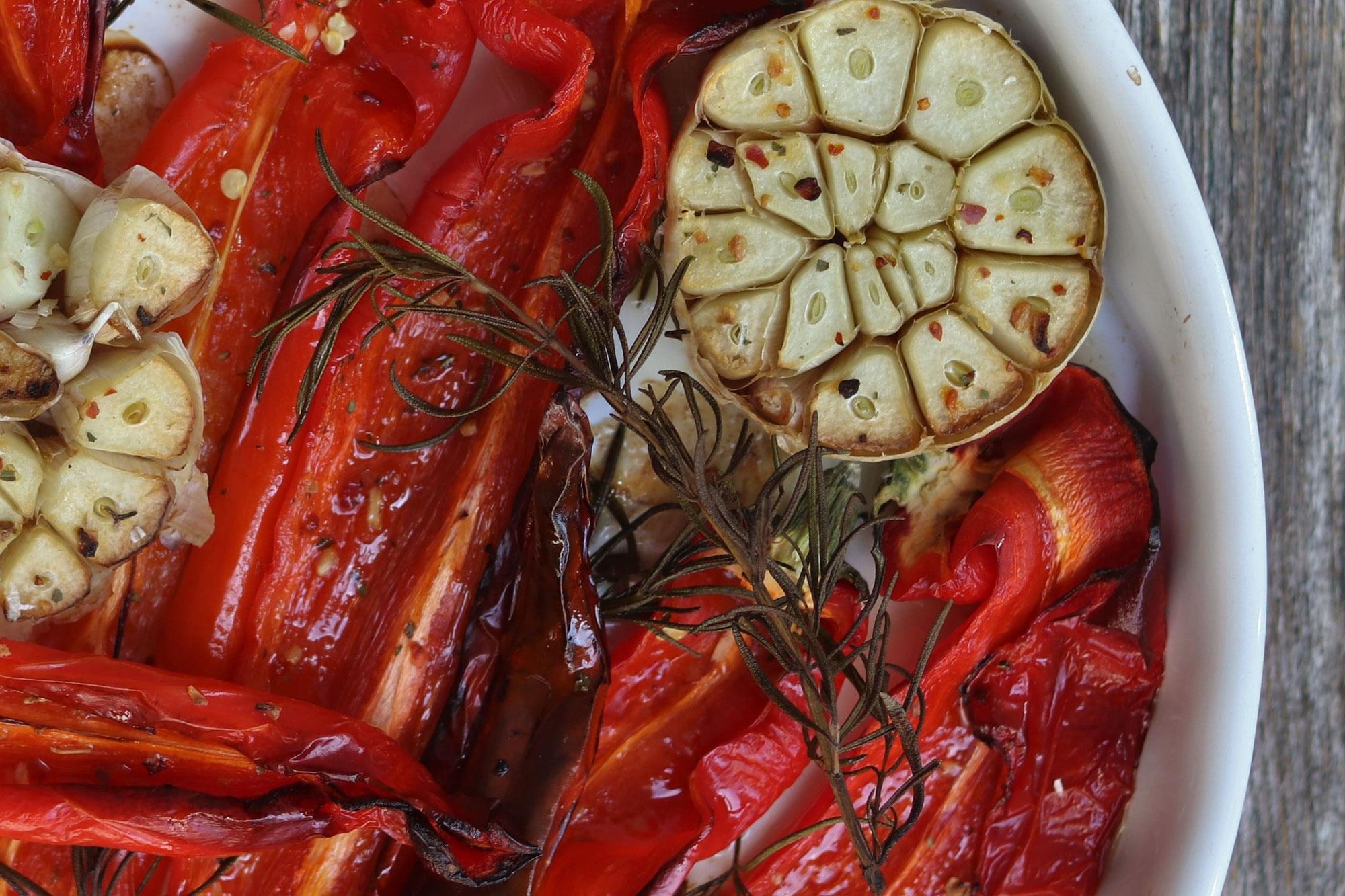 gegrillter Paprika aus dem Backofen