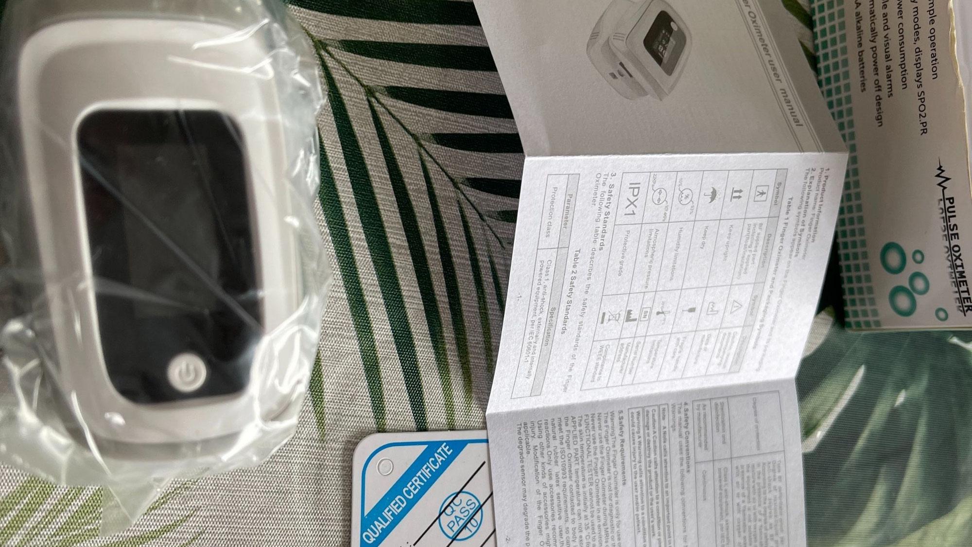 パルスオキシメーター〜日本製と書いてあったのに中国製〜