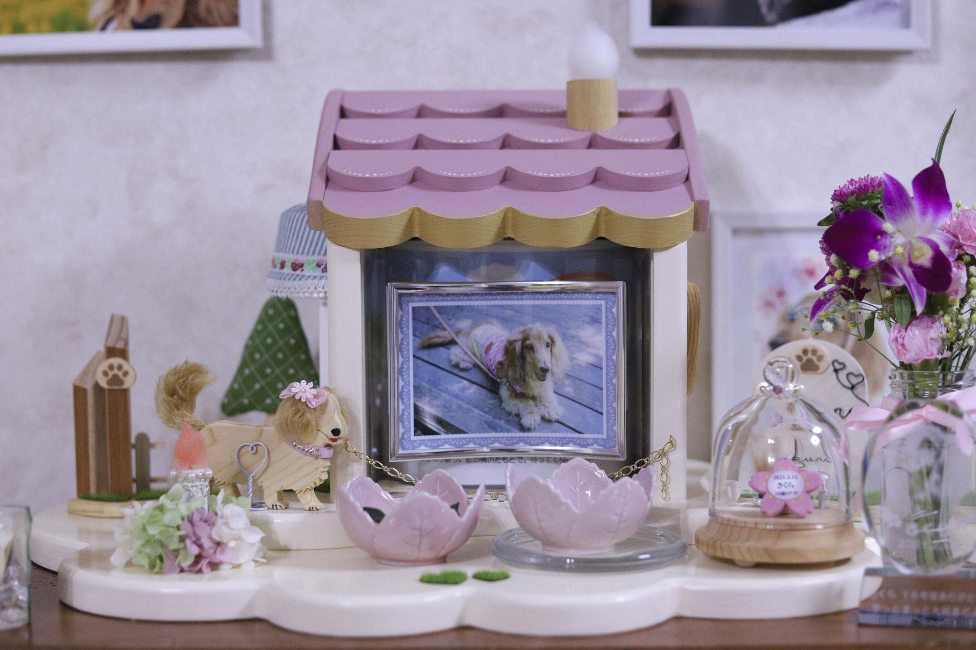 ピンクのイメージがピッタリなさくらちゃんのお家が完成しました