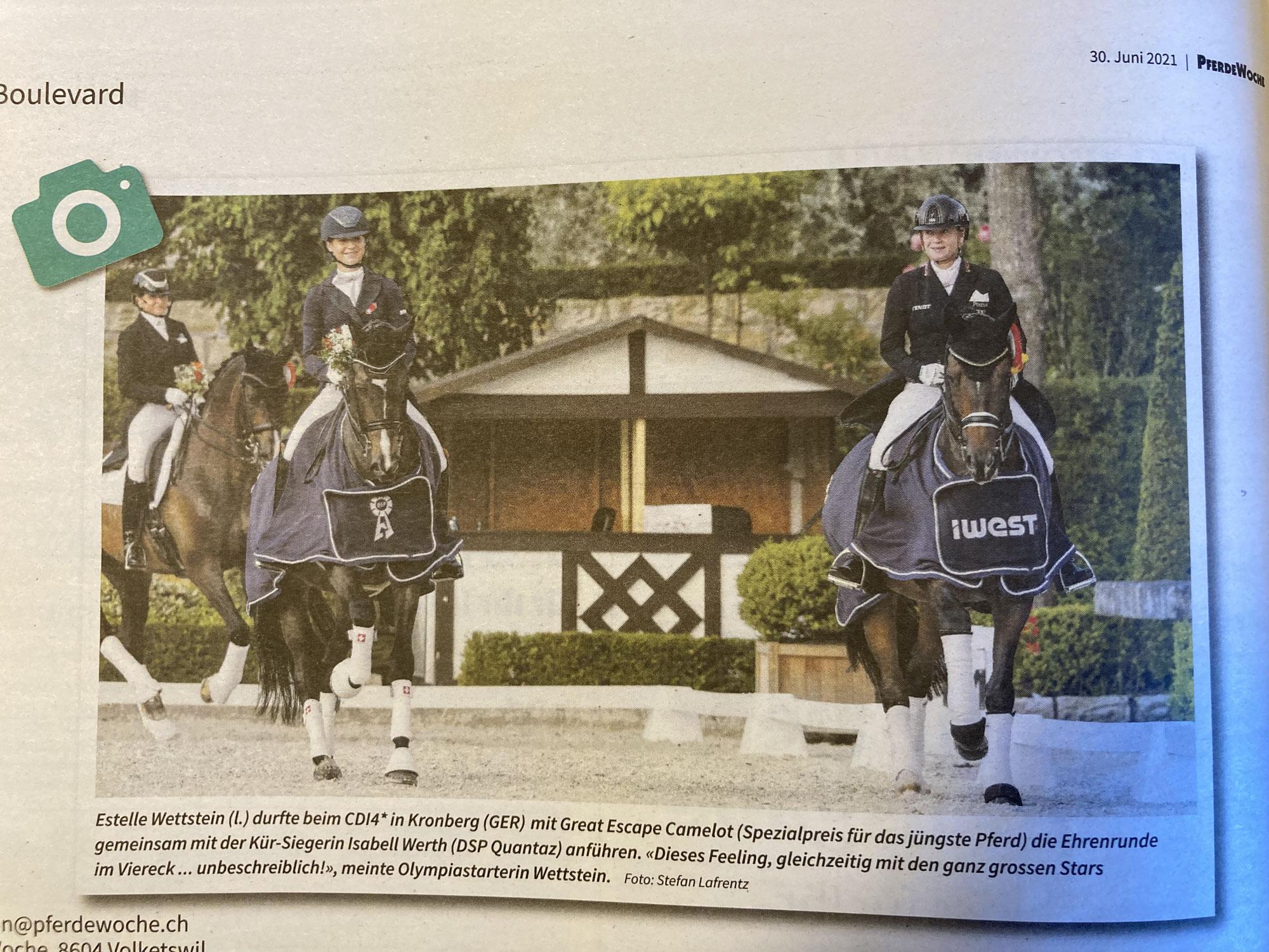 Great Escape Camelot bekommt Preis für das jüngste Pferd