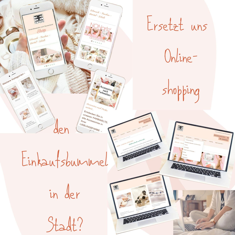 Onlineshopping als Ersatz für den Einkaufsbummel in der Stadt????