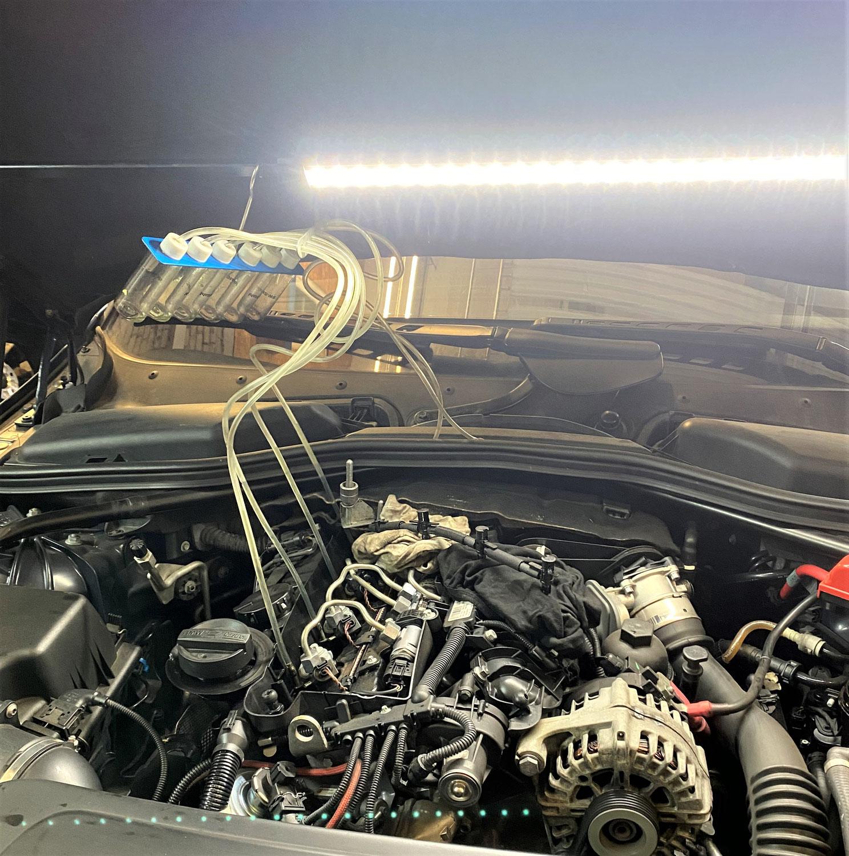 Rücklaufmengenmessung Injektor BMW E61
