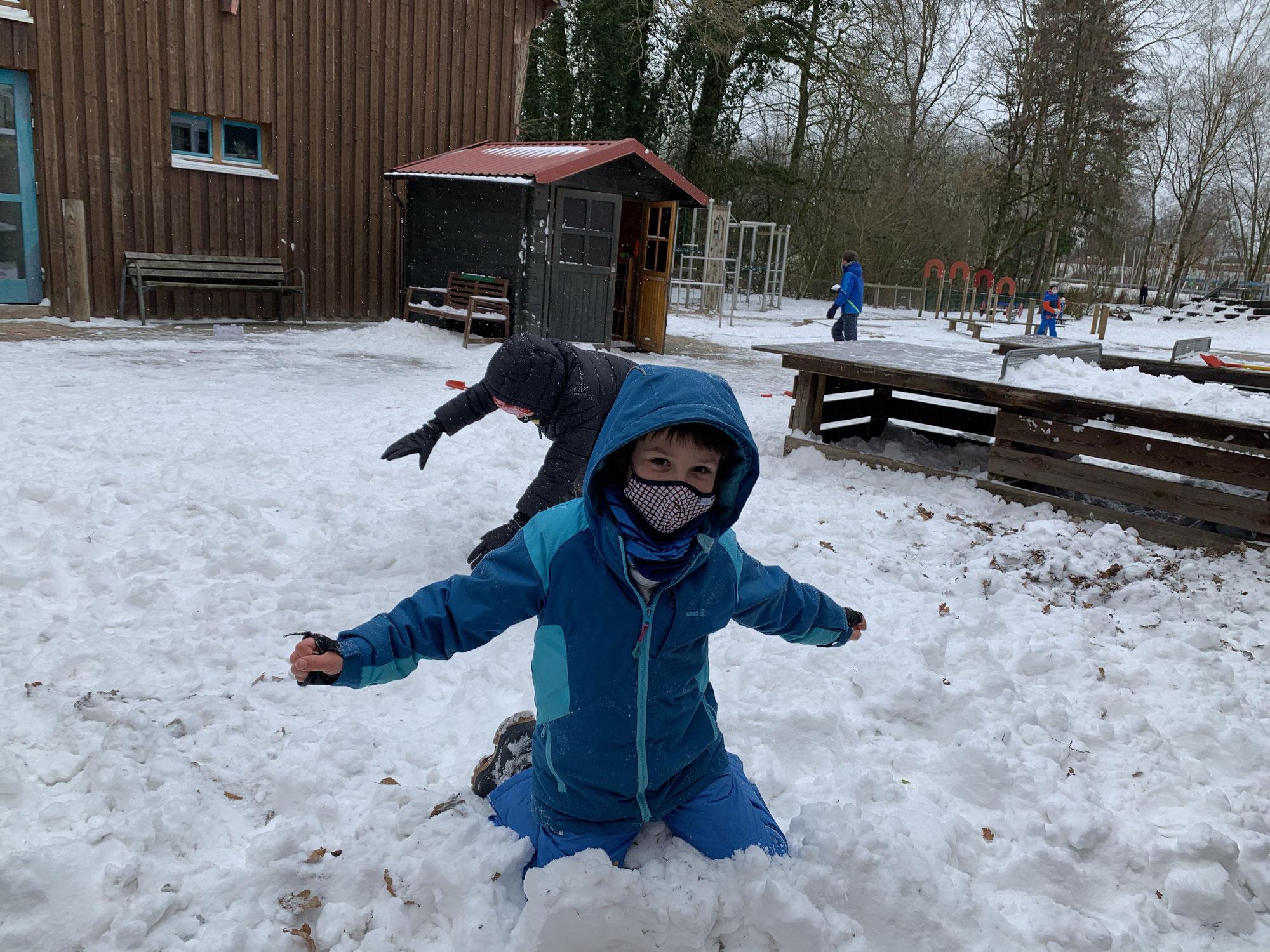 Endlich richtiger Schnee!