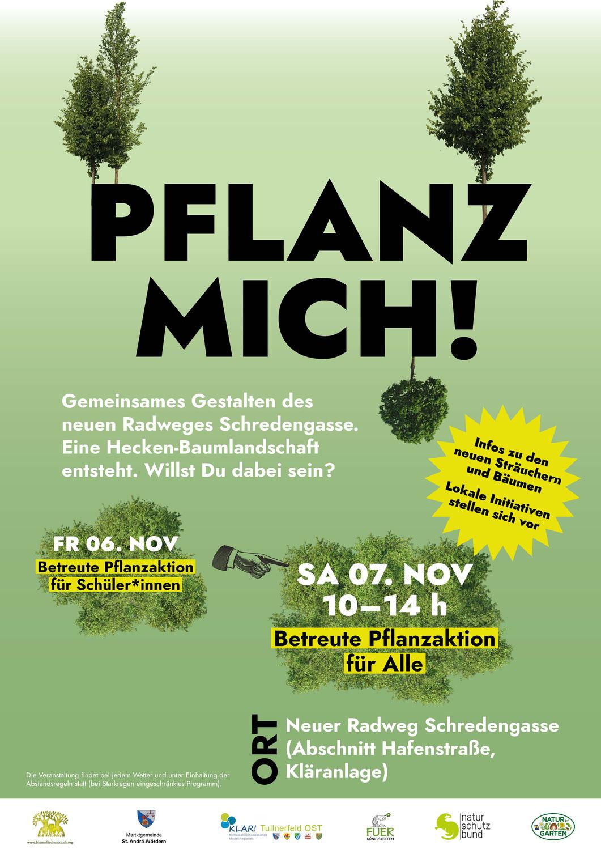 Aktion Pflanz Mich!  am Radweg Schredengasse