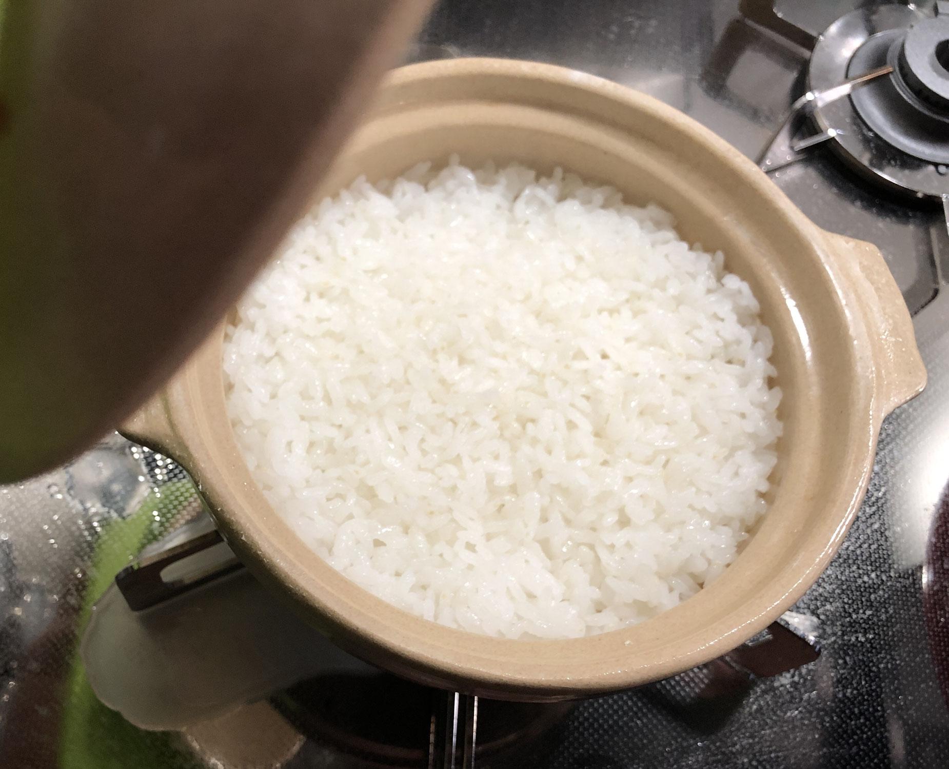 100均土鍋ご飯