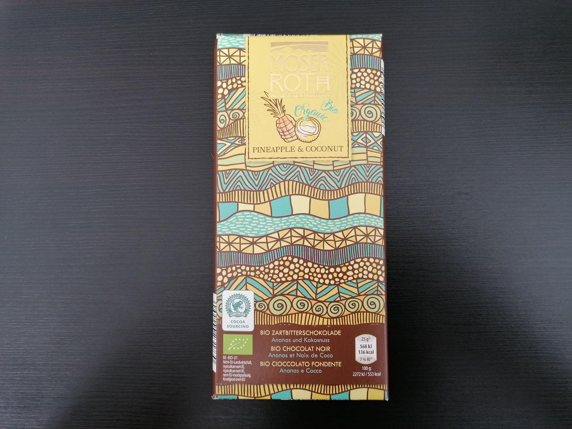 Moser Roth Bio Zartbitterschokolade mit Ananas und Kokosnuss