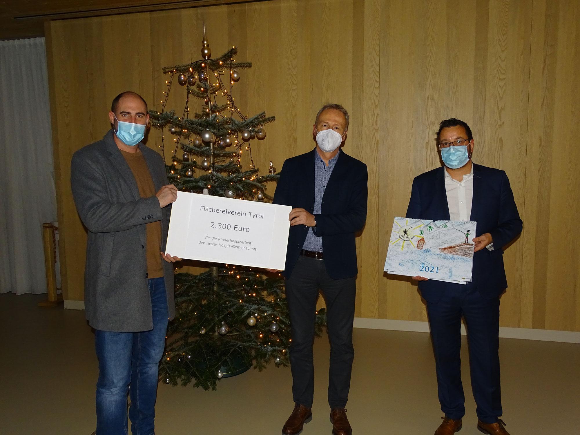 Der Fischereiverein Tyrol spendet 2300€ an das Kinderhospiz Tirol