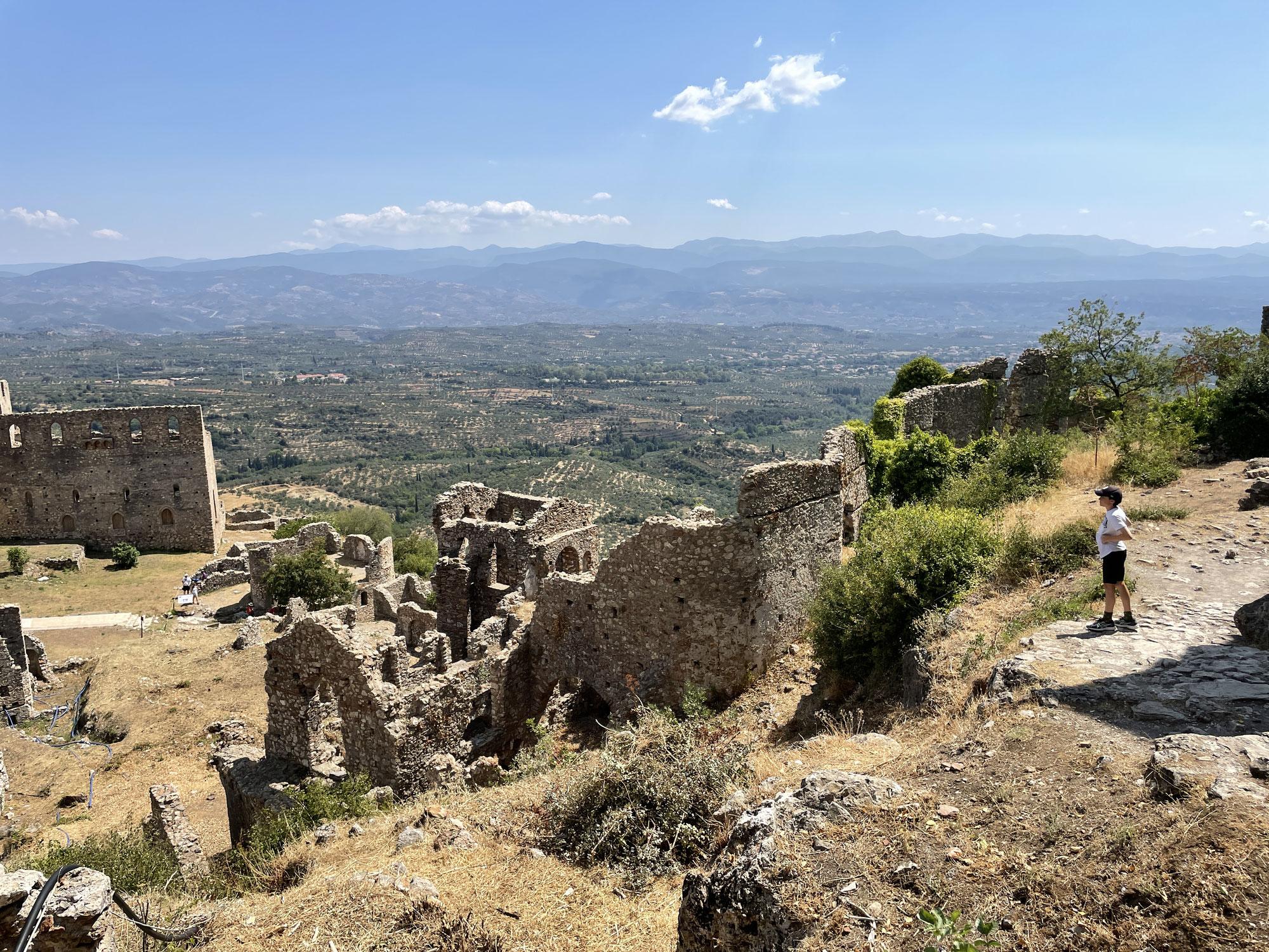 Tag 8, Mistrás und Sparta über schöne Bergstroute E82, retour bis nach Stoupa (äussere Mani)