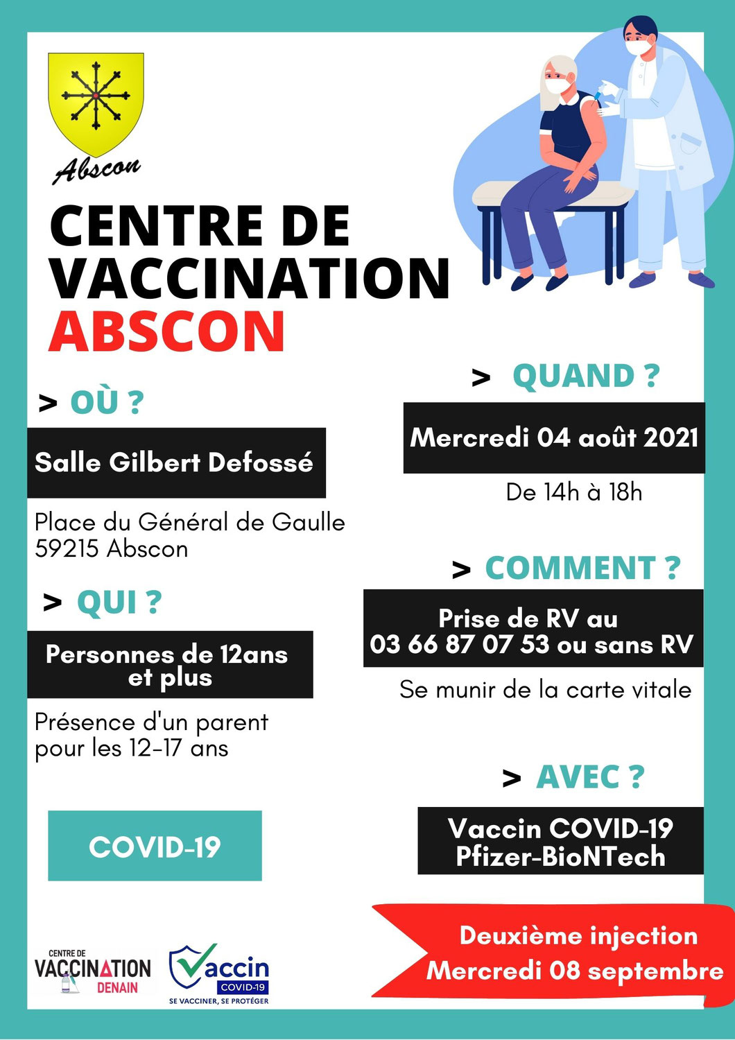 Vaccination à Abscon