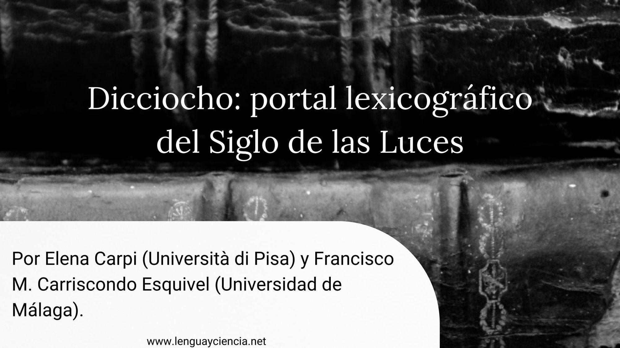 Dicciocho: portal lexicográfico del Siglo de las Luces