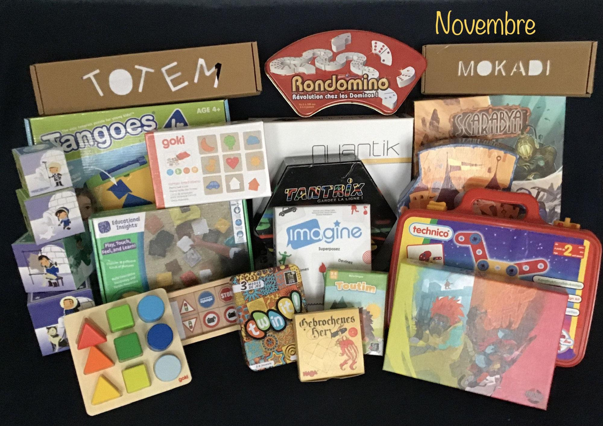 Nouveautés de novembre : jeux et jouets