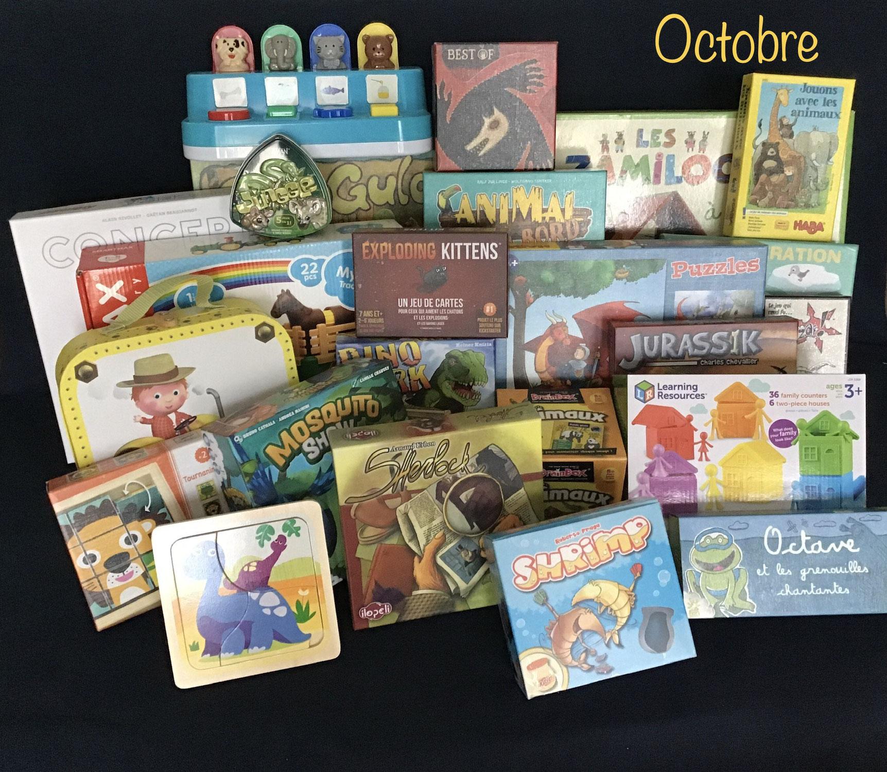 Nouveautés d'octobre : jeux et jouets