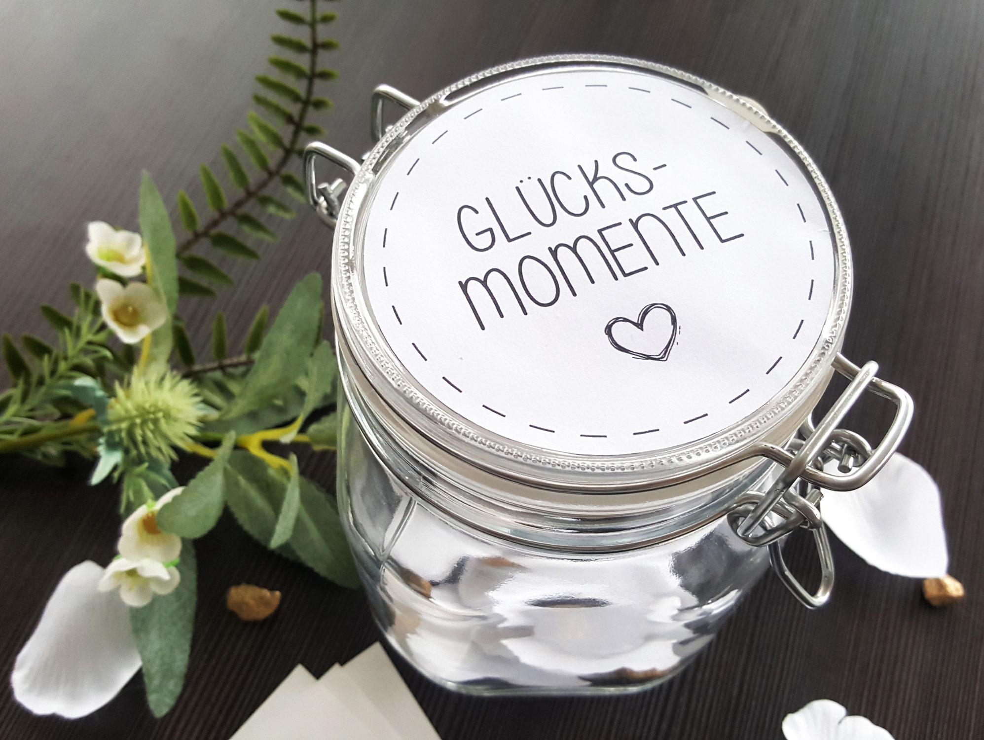 DIY Glücksmomente im Glas
