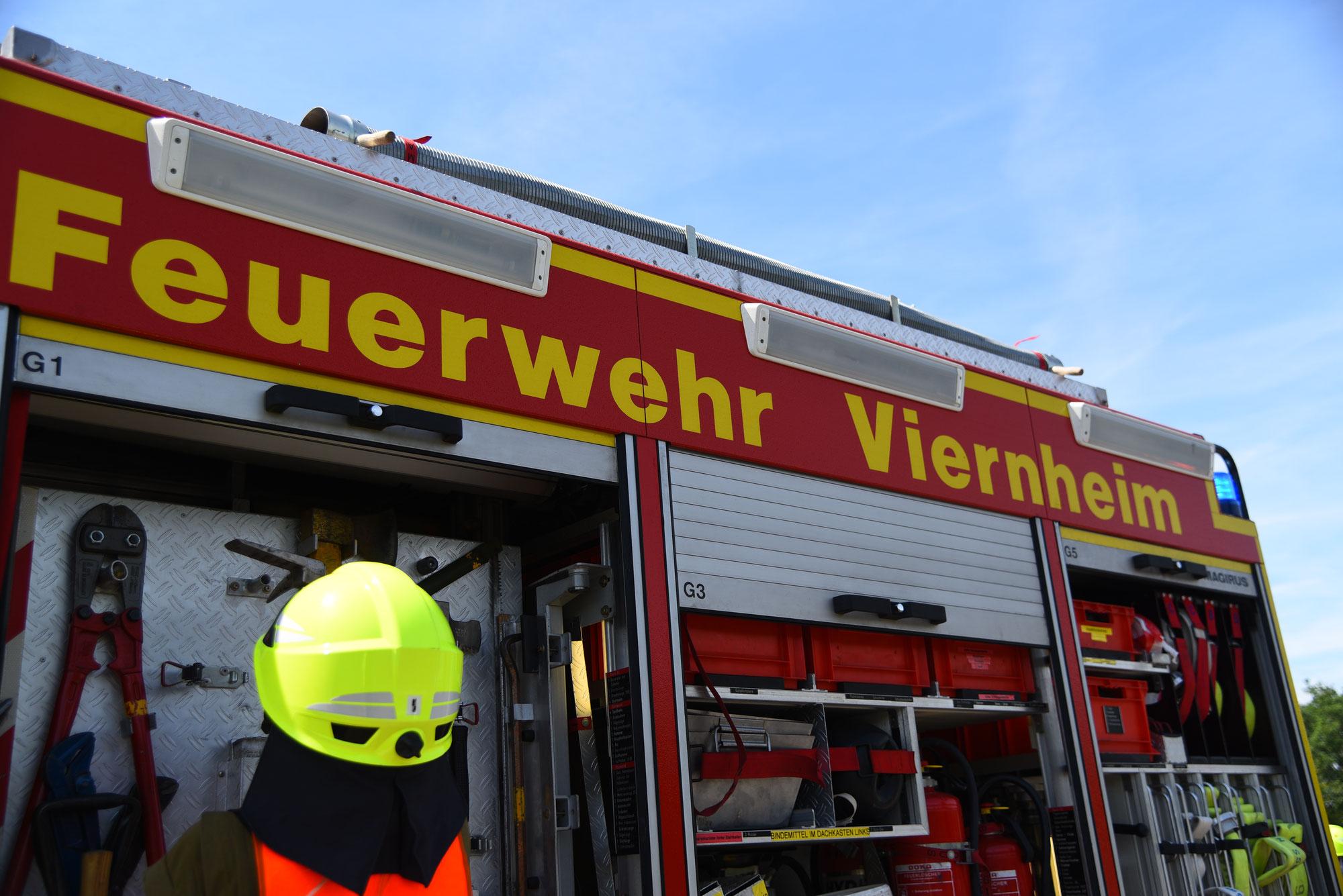 Viernheim: Brand in Möbelhaus Feuerwehr und Polizei im Einsatz