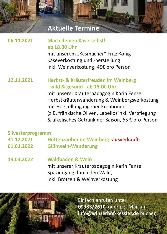 Veranstaltungen  im November